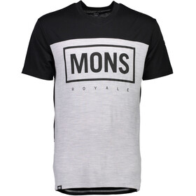 Mons Royale M's Redwood MR Box V-Neck T-Shirt Black/Grey Marl